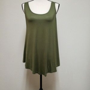 Leo Rossi olive green swing tank top size large
